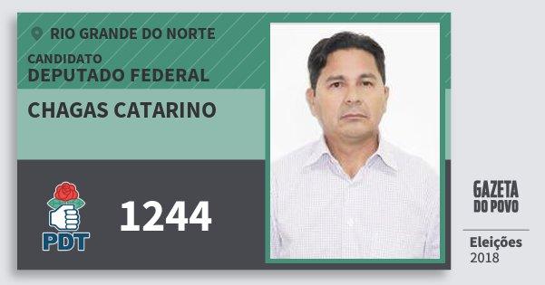 Santinho Chagas Catarino 1244 (PDT) Deputado Federal | Rio Grande do Norte | Eleições 2018
