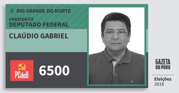 Santinho Claúdio Gabriel 6500 (PC do B) Deputado Federal | Rio Grande do Norte | Eleições 2018