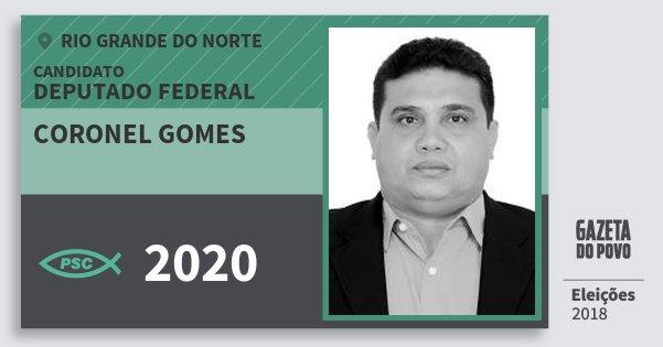 Santinho Coronel Gomes 2020 (PSC) Deputado Federal | Rio Grande do Norte | Eleições 2018