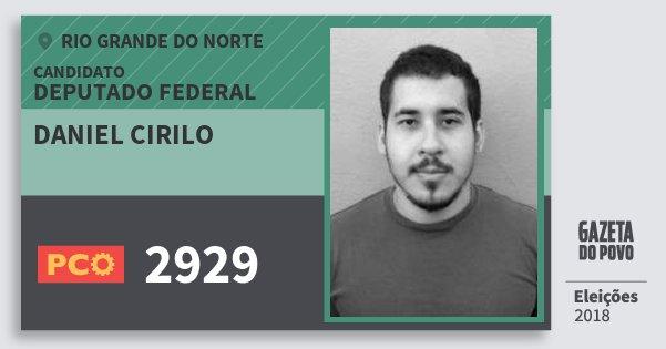 Santinho Daniel Cirilo 2929 (PCO) Deputado Federal | Rio Grande do Norte | Eleições 2018