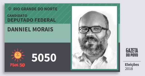 Santinho Danniel Morais 5050 (PSOL) Deputado Federal | Rio Grande do Norte | Eleições 2018