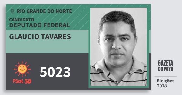 Santinho Glaucio Tavares 5023 (PSOL) Deputado Federal | Rio Grande do Norte | Eleições 2018
