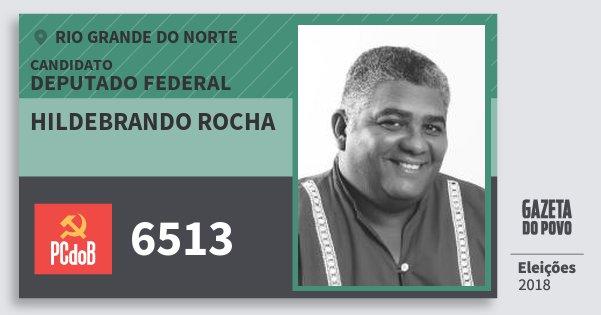 Santinho Hildebrando Rocha 6513 (PC do B) Deputado Federal   Rio Grande do Norte   Eleições 2018