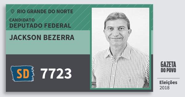 Santinho Jackson Bezerra 7723 (SOLIDARIEDADE) Deputado Federal | Rio Grande do Norte | Eleições 2018