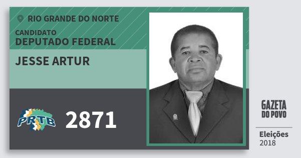 Santinho Jesse Artur 2871 (PRTB) Deputado Federal | Rio Grande do Norte | Eleições 2018