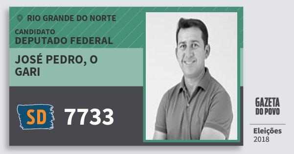 Santinho José Pedro, O Gari 7733 (SOLIDARIEDADE) Deputado Federal | Rio Grande do Norte | Eleições 2018