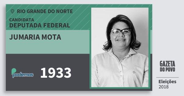 Santinho Jumaria Mota 1933 (PODE) Deputada Federal | Rio Grande do Norte | Eleições 2018