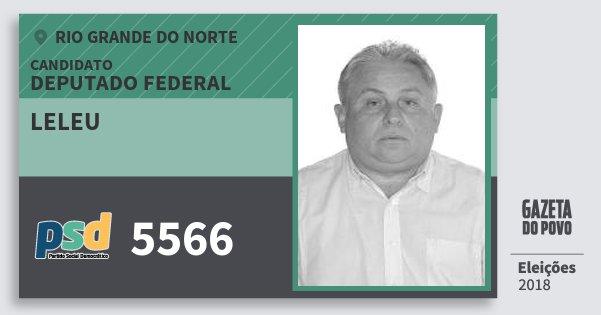 Santinho Leleu 5566 (PSD) Deputado Federal | Rio Grande do Norte | Eleições 2018