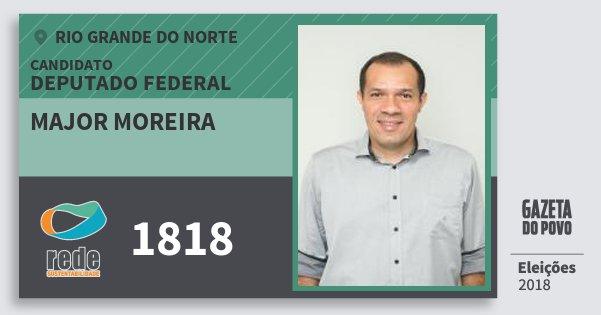 Santinho Major Moreira 1818 (REDE) Deputado Federal | Rio Grande do Norte | Eleições 2018
