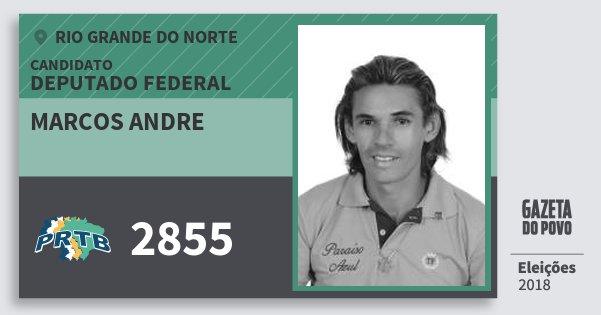 Santinho Marcos Andre 2855 (PRTB) Deputado Federal | Rio Grande do Norte | Eleições 2018