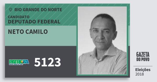 Santinho Neto Camilo 5123 (PATRI) Deputado Federal | Rio Grande do Norte | Eleições 2018