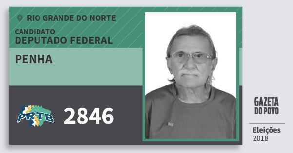 Santinho Penha 2846 (PRTB) Deputado Federal | Rio Grande do Norte | Eleições 2018