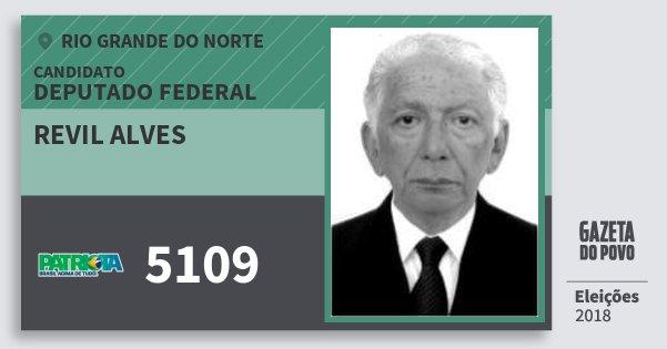 Santinho Revil Alves 5109 (PATRI) Deputado Federal | Rio Grande do Norte | Eleições 2018