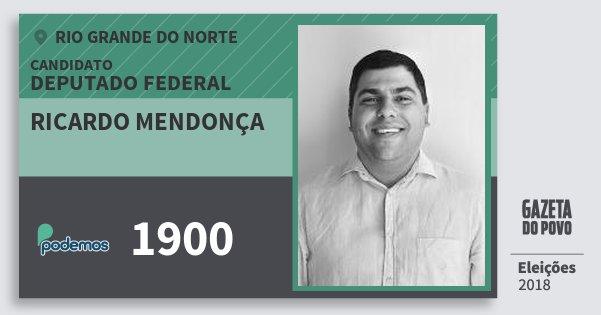 Santinho Ricardo Mendonça 1900 (PODE) Deputado Federal | Rio Grande do Norte | Eleições 2018