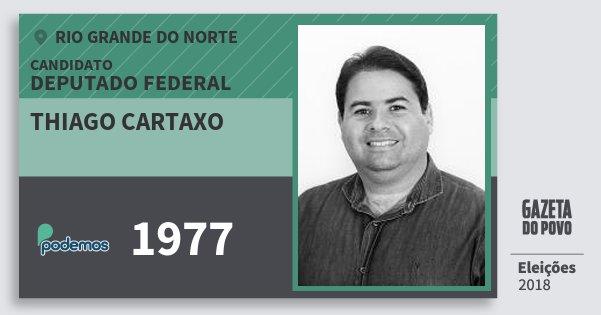 Santinho Thiago Cartaxo 1977 (PODE) Deputado Federal | Rio Grande do Norte | Eleições 2018