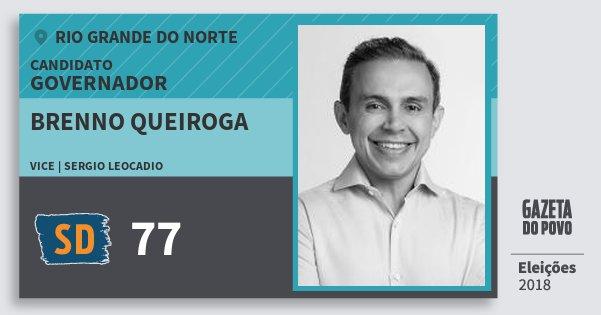 Santinho Brenno Queiroga 77 (SOLIDARIEDADE) Governador | Rio Grande do Norte | Eleições 2018
