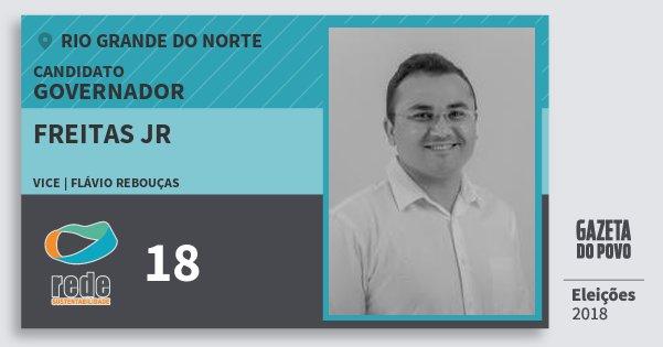 Santinho Freitas Jr 18 (REDE) Governador | Rio Grande do Norte | Eleições 2018