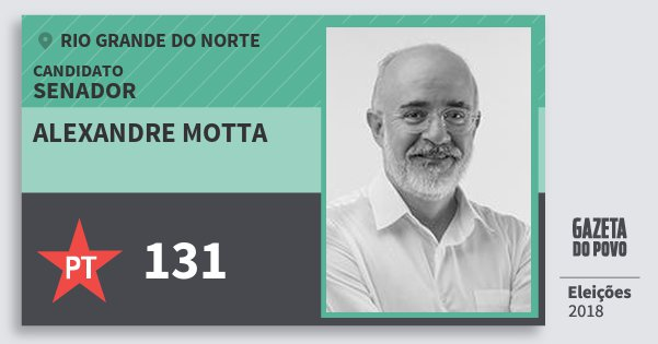 Santinho Alexandre Motta 131 (PT) Senador | Rio Grande do Norte | Eleições 2018