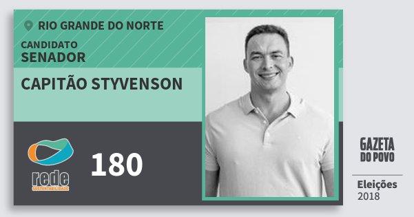 Santinho Capitão Styvenson 180 (REDE) Senador | Rio Grande do Norte | Eleições 2018