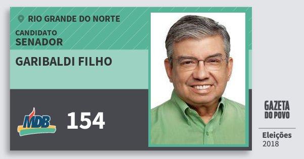 Santinho Garibaldi Filho 154 (MDB) Senador | Rio Grande do Norte | Eleições 2018
