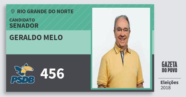 Santinho Geraldo Melo 456 (PSDB) Senador | Rio Grande do Norte | Eleições 2018