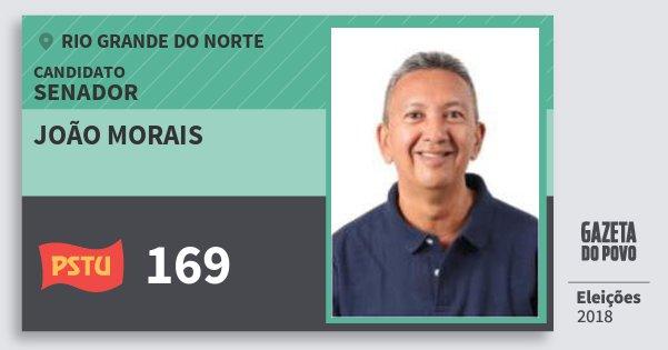 Santinho João Morais 169 (PSTU) Senador | Rio Grande do Norte | Eleições 2018