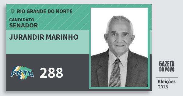 Santinho Jurandir Marinho 288 (PRTB) Senador | Rio Grande do Norte | Eleições 2018