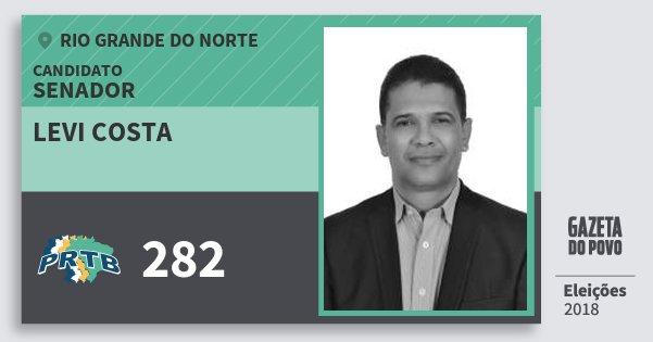 Santinho Levi Costa 282 (PRTB) Senador | Rio Grande do Norte | Eleições 2018