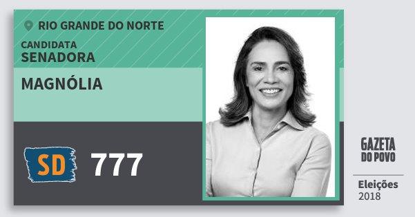 Santinho Magnólia 777 (SOLIDARIEDADE) Senadora | Rio Grande do Norte | Eleições 2018