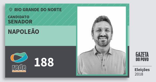 Santinho Napoleão 188 (REDE) Senador | Rio Grande do Norte | Eleições 2018