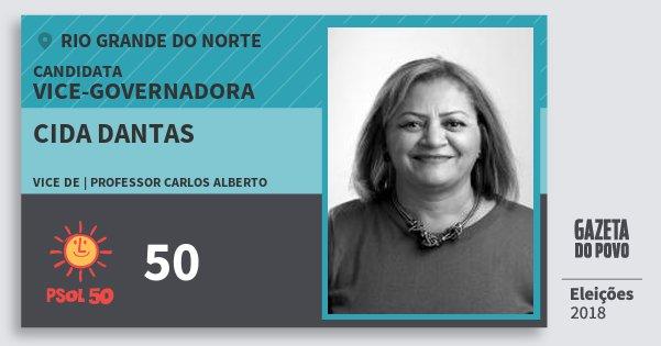 Santinho Cida Dantas 50 (PSOL) Vice-Governadora | Rio Grande do Norte | Eleições 2018