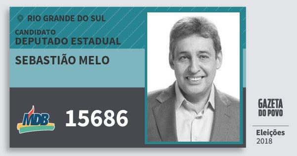 Santinho Sebastião Melo 15686 (MDB) Deputado Estadual | Rio Grande do Sul | Eleições 2018