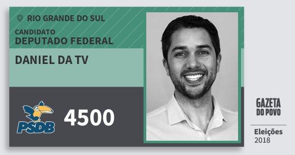 Santinho Daniel da Tv 4500 (PSDB) Deputado Federal   Rio Grande do Sul   Eleições 2018