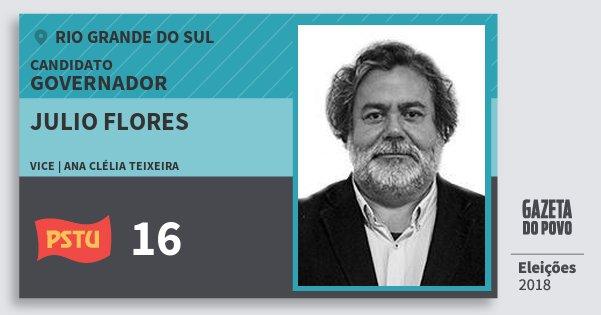 Santinho Julio Flores 16 (PSTU) Governador | Rio Grande do Sul | Eleições 2018