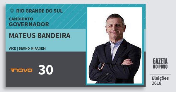 Santinho Mateus Bandeira 30 (NOVO) Governador | Rio Grande do Sul | Eleições 2018
