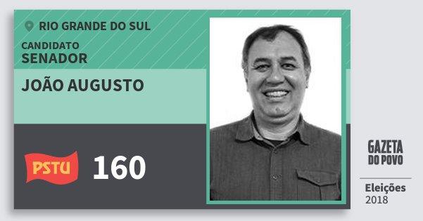 Santinho João Augusto 160 (PSTU) Senador | Rio Grande do Sul | Eleições 2018