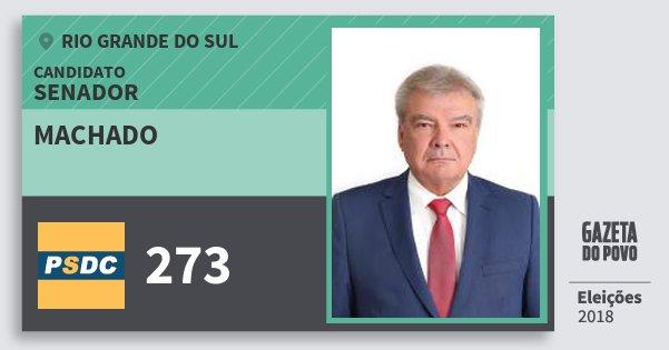Santinho Machado 273 (DC) Senador | Rio Grande do Sul | Eleições 2018