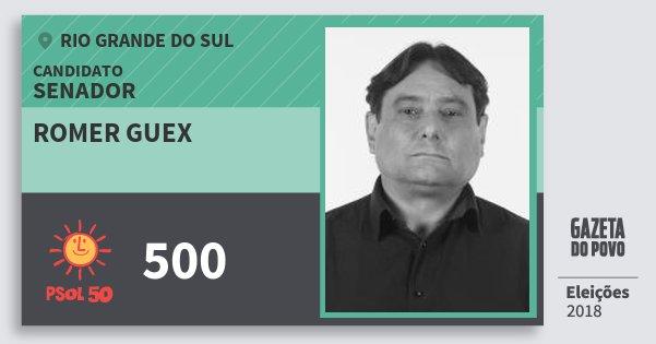 Santinho Romer Guex 500 (PSOL) Senador | Rio Grande do Sul | Eleições 2018