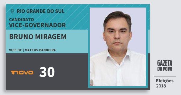 Santinho Bruno Miragem 30 (NOVO) Vice-governador   Rio Grande do Sul   Eleições 2018