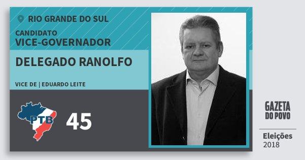 Santinho Delegado Ranolfo 45 (PTB) Vice-governador | Rio Grande do Sul | Eleições 2018