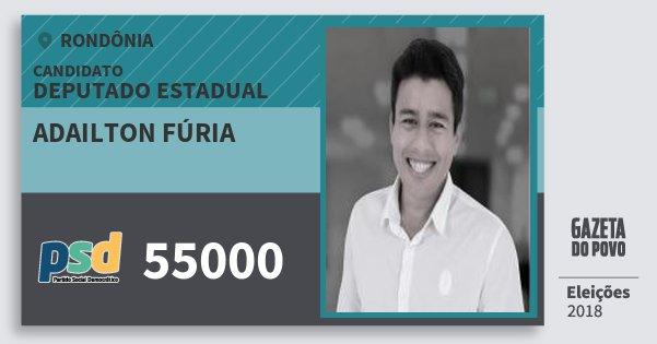 Santinho Adailton Fúria 55000 (PSD) Deputado Estadual | Rondônia | Eleições 2018