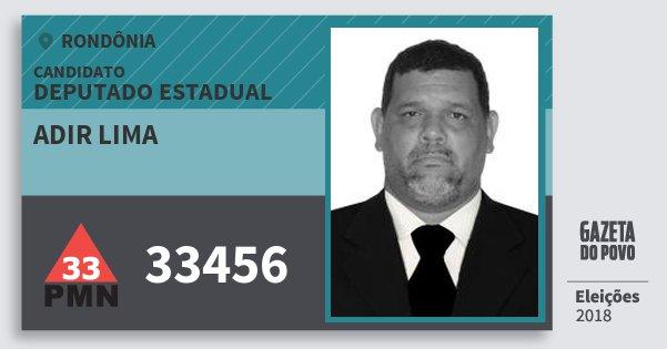 Santinho Adir Lima 33456 (PMN) Deputado Estadual   Rondônia   Eleições 2018