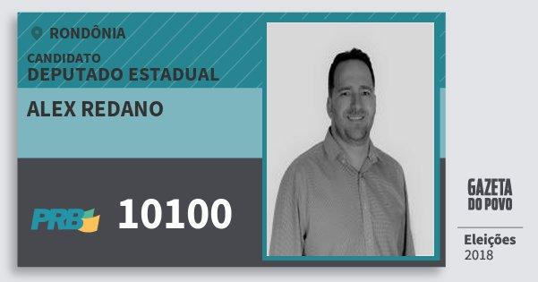 Santinho Alex Redano 10100 (PRB) Deputado Estadual | Rondônia | Eleições 2018