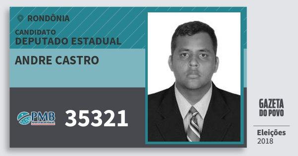 Santinho Andre Castro 35321 (PMB) Deputado Estadual | Rondônia | Eleições 2018