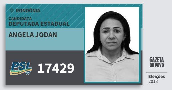 Santinho Angela Jodan 17429 (PSL) Deputada Estadual   Rondônia   Eleições 2018
