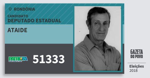 Santinho Ataide 51333 (PATRI) Deputado Estadual   Rondônia   Eleições 2018