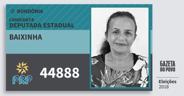 Santinho Baixinha 44888 (PRP) Deputada Estadual | Rondônia | Eleições 2018