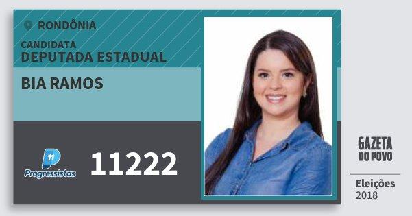 Santinho Bia Ramos 11222 (PP) Deputada Estadual | Rondônia | Eleições 2018