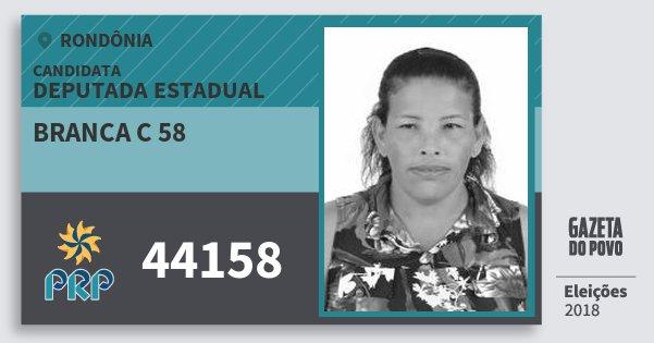 Santinho Branca C 58 44158 (PRP) Deputada Estadual | Rondônia | Eleições 2018