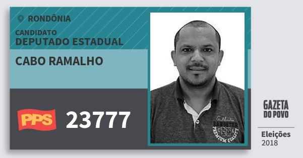 Santinho Cabo Ramalho 23777 (PPS) Deputado Estadual | Rondônia | Eleições 2018